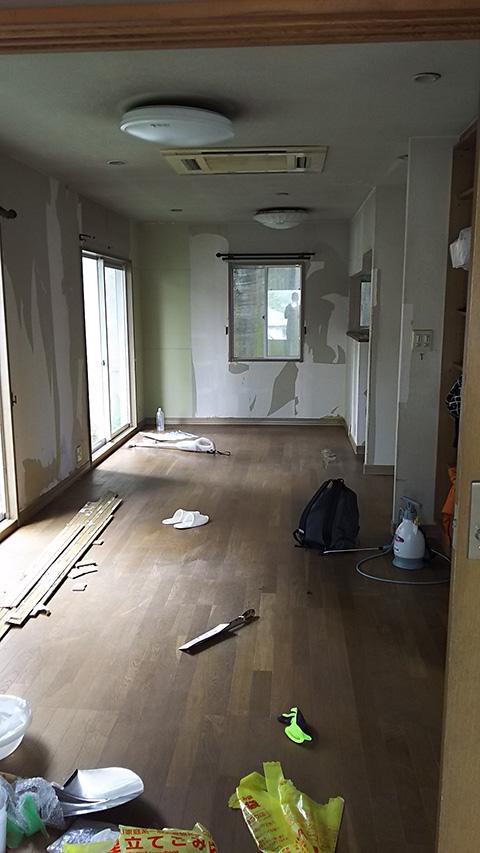 軽量鉄骨のお家の改築購入時2